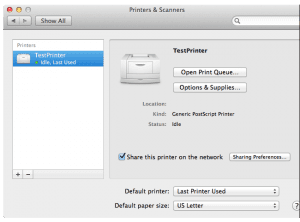 mac share printer network